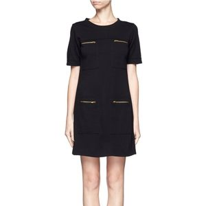 J.crew black sheath mini dress pocket size 4 small